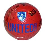 2015 USWNT USA Womans Team Autographed / Signed United States Logo Soccer Ball, Proof Photos