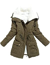 Women's Winter Warm Wool Cotton-Padded Coat Parka Long Outwear Jacket Asian Size