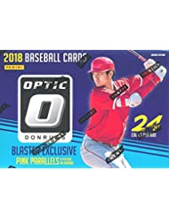 2018 Donruss Optic Baseball EXCLUSIVE Factory Sealed Retail Box with Special PINK PRIZM PARALLELS!  Look for Rookies & Auto's of Shohei Ohtani, Ronald Acuna, Vladimir Guerrero, Gleyber Torres & More!