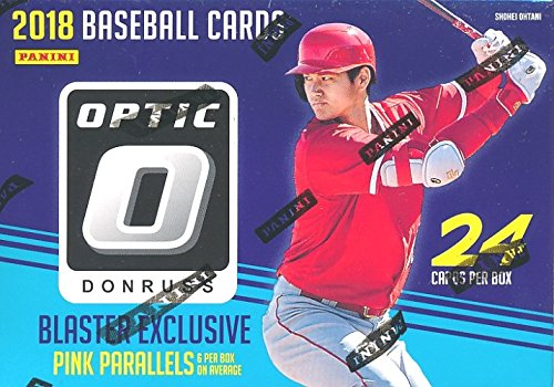 Prospects Baseball Cards Box - 2018 Donruss Optic Baseball EXCLUSIVE Factory Sealed Retail Box with Special PINK PRIZM PARALLELS!  Look for Rookies & Auto's of Shohei Ohtani, Ronald Acuna, Vladimir Guerrero, Gleyber Torres & More!