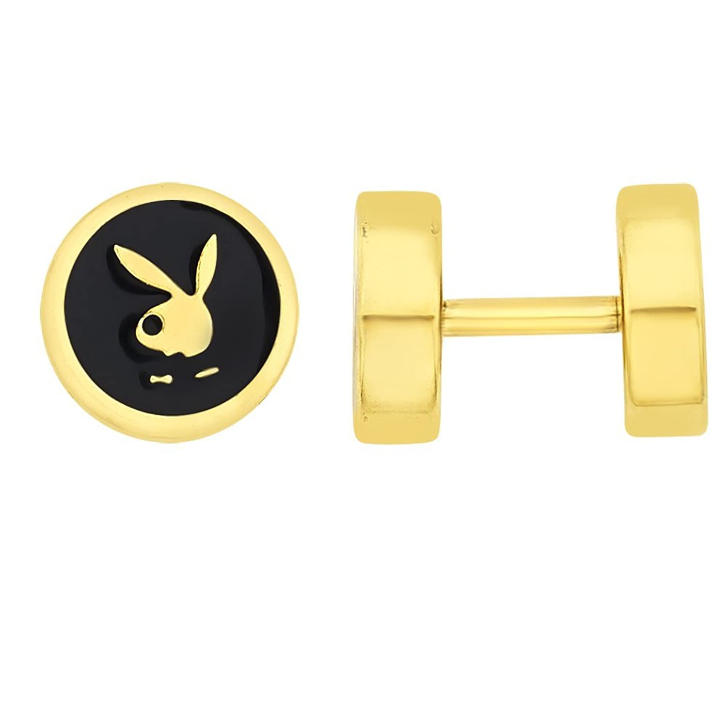 BeBold Piercing Gold Stainless Steel Playboy Inspired Fashion Bali ...