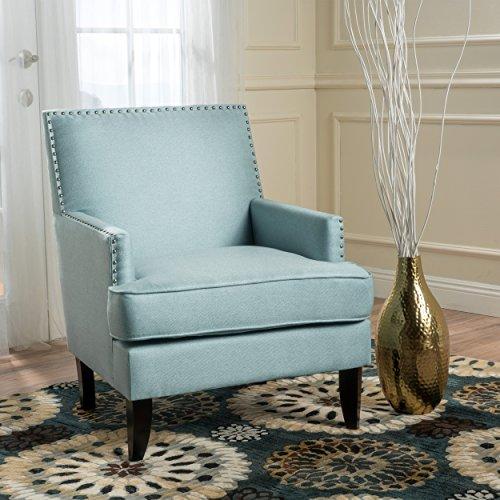 Christopher Knight Home 299990 Tilla Arm Chair, Light Blue