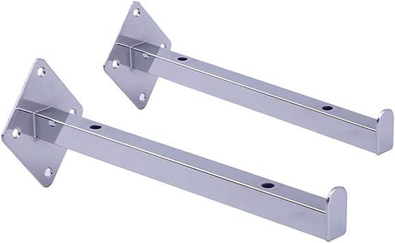 Aly 2 × Staffa Mensola di Supporto Ferro Metallico Argento