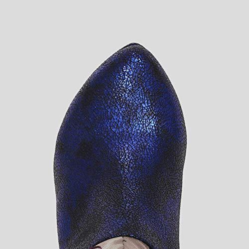 Floral Geschlossen Schuhe Shoo Stiefel Ruby Retro Athena Damen Vintage X68CqwU