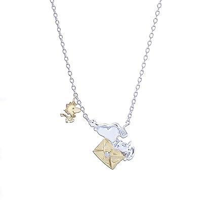 1a0ab869ebdd6  スヌーピー  SNOOPY ネックレス ダイヤモンド スヌーピー ウッドストック レター knsa0001
