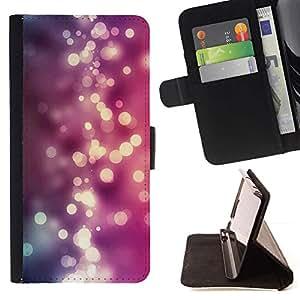 Momo Phone Case / Flip Funda de Cuero Case Cover - Rosa púrpura brillante Agua - Apple Iphone 5C