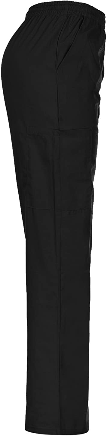 MedPro Womens Solid Medical Scrub V-Neck Top and Cargo Pants