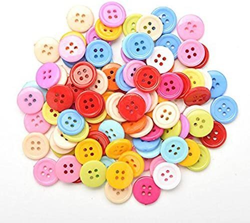 Random Color Plastic TOOGOO Generic DIY random color Set of 100 sewing buttons Craft for kids DIY toys 20mm