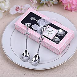 Couple Coffee Spoon Wedding Favors and Gifts Wedding Gifts for Guests Wedding Souvenirs Party Supplies (100) (Pink, 1 pcs)