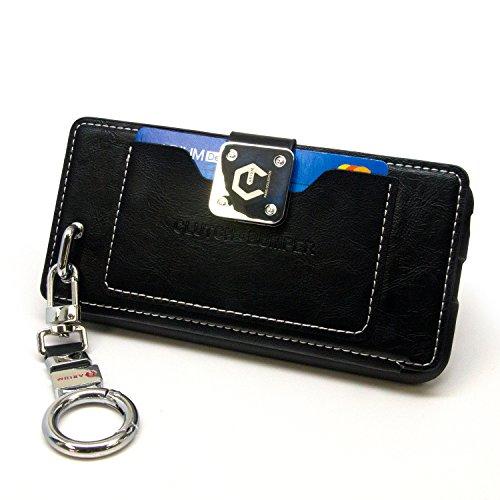 Galaxy S7 límite de caso, Arium [Bally] Soporte de funciones [Negro] caja de la carpeta de Premium cepillado titular de la tarjeta duro de la cubierta [pata de cabra] para Samsung Galaxy S7 Edge Clutch Caso - Black