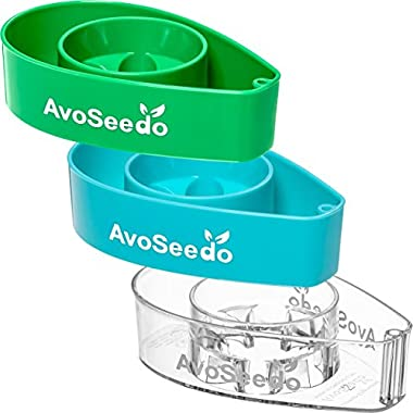 AvoSeedo - Grow your own Avocado Tree, 3 Pack, Green/Blue & Transparent