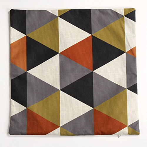Pillow Case,JUNKE New geometric cushion covers decorative pillows cushions home decor (Orange)