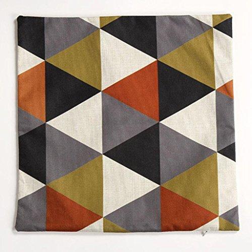 Pillow Case,JUNKE New geometric cushion covers decorative pillows cushions home decor (Orange)