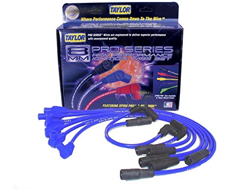 Taylor Cable 74635 Spiro-Pro Blue Spark Plug Wire (Plug Wire Set 90 Boots)