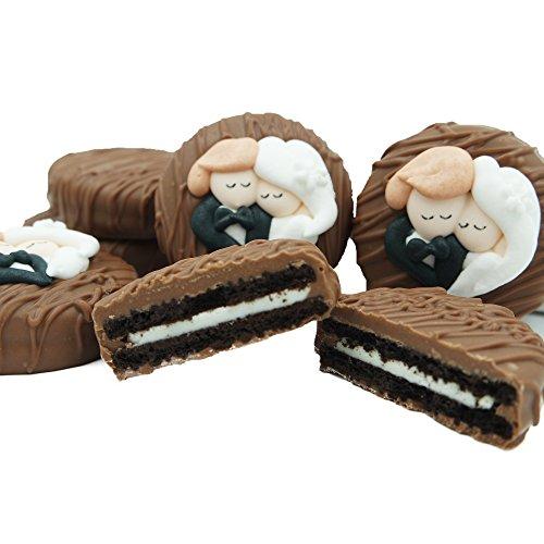 (Philadelphia Candies Milk Chocolate Covered OREO Cookies, Bride and Groom Wedding Heart Gift Net Wt 8 oz)