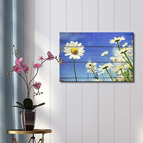 A Lone Daisy Faces Camera Rustic Floral Arrangements Pastels Colorful Beautiful Wood Grain Antique
