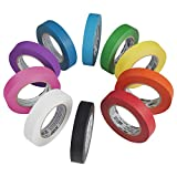 ECR4Kids Decorative Children's Craft Tape, Assorted Colors, 1'' x 60 Yards/Roll (10-Pack)