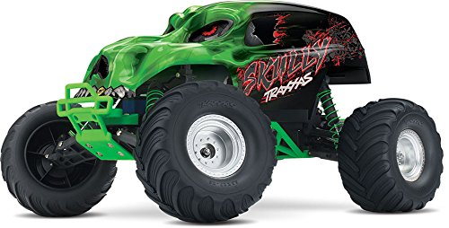 Stampede Monster Truck - Traxxas Skully 1/10 Scale Monster Truck with TQ 2.4GHz Radio System, Green