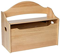 Gift Mark Toy Chest with Arched Back, Cherry