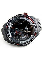 Youyoupifa Black Dial Black Rubber Strap Automatic Mechanical Watch Sport Watch Calendar Watch