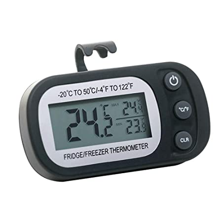 Houkiper Termómetro digital LCD Diseño de gancho Dermproof ...