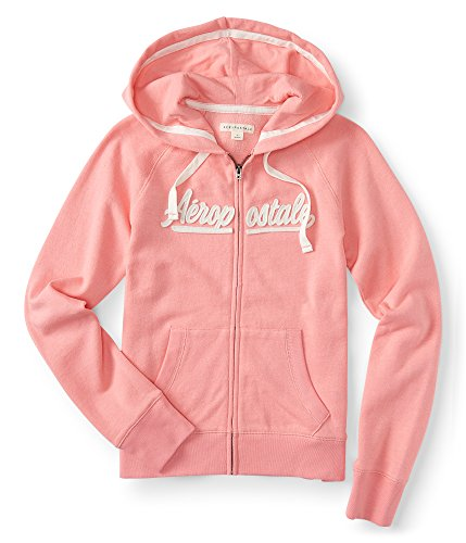 Aeropostale Aeropostale Script Full-Zip Hoodie Medium Light Coral (Clothing Aeropostale)