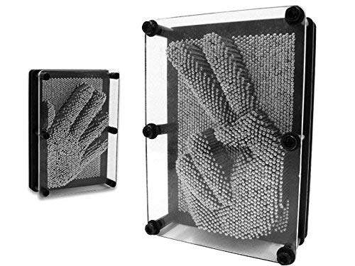 Large Pin Art Classic 3D Impressions Executive Desktop Office Toy Metal Pin Art 3D Sculpture – Size 18cm X 14cm FiNeWaY