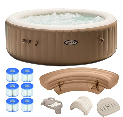 Intex Pure Spa 6-Person Inflatable Portable Hot Tub Ultimate Bundle Package ()