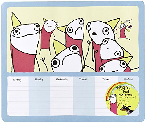 Hyperbole And A Half Notepad (and Mouse Pad): 54 Sheets, 6 Designs