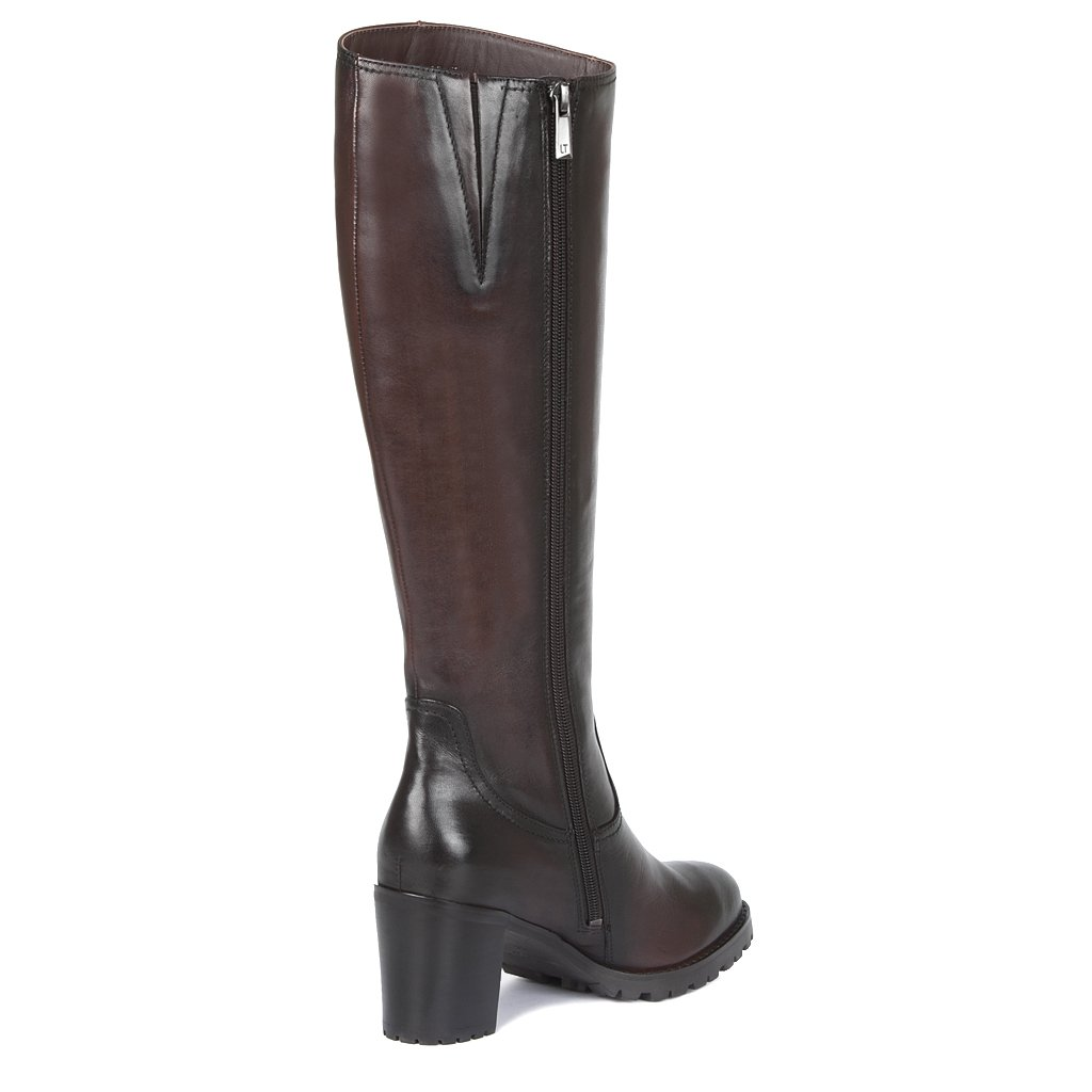 TJ Collection - Botas de Piel para para para Mujer marrón marrón 0c3fa2