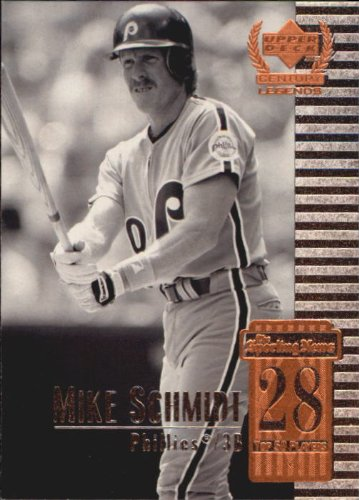 1999 Upper Deck Century Legends Baseball Card #28 Mike Schmidt Near Mint/Mint (Card Baseball Schmidt)