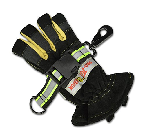 Ballistic Powder Black (Lightning X Heavy-Duty Ballistic Nylon Glove Strap, Adjustable Size, Reflective Tape for Quick Access (Ideal for Firefighters, EMTs, Construction and Mechanics))