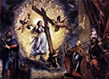 Titian Doge Antonio Grimani Kneeling Before the Faith - 24'' x 36'' 100% Hand Painted Oil Painting Reproduction