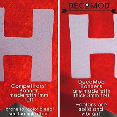 Decomod Premium Layered Felt Happy Birthday Banner Bunting Laser Cut 60 inches Wide - Rainbow Flags: Toys & Games