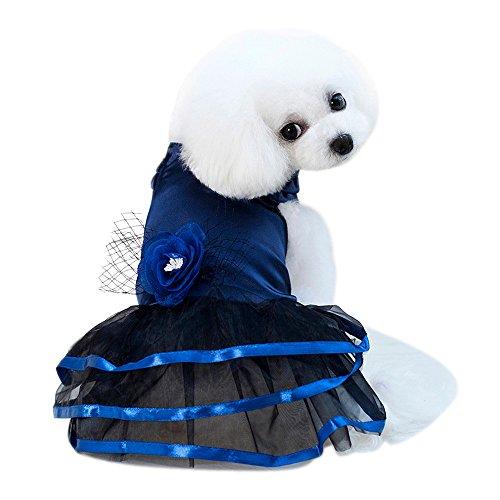 Pet Dress Puppy Dog Cute Tutu Dress Lace Princess Costume Apparel Girl Gogs Cats -