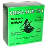 China Slim Tea Dieter's Delight 36 Tea Bags NET WT 3.17 OZ (90 g) by the teapot company