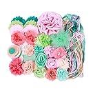 Small Headband Making Kit - Makes 12 to 16 Headbands - Coral Aqua