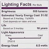 Philips 4pk 8.5W=60W LED Soft White A19 Bulbs
