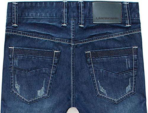 Jeans Jeans Casuales Cómodos Pantalones Pantalones Jeans con Slim R Y Casual Fit Blueblack Cintura Media Elástico Jeans Jeans Recta rrAqwdH