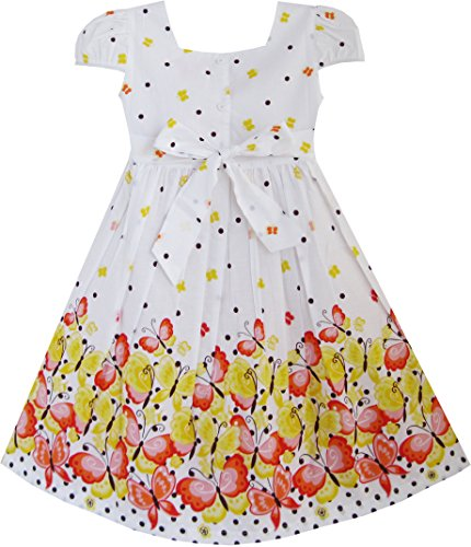 Sunny Fashion Girls Dress Short Sleeve Butterfly Dot School Uniform