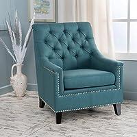 Ailsa Teal Fabric Tufted Club Chair