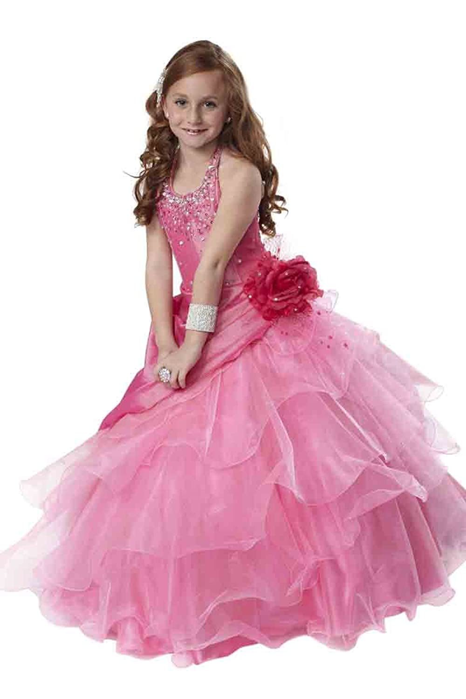 Amazon Tiffany Princess Little Girls Beaded Ruffled Pageant