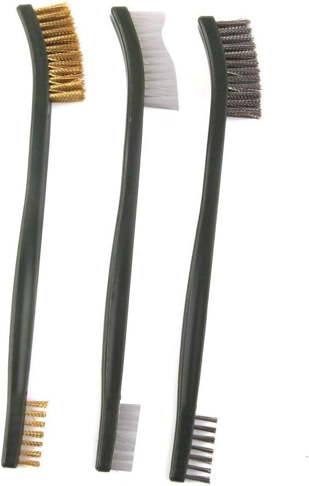 Cepillos de cerdas de latón y nailon de doble punta para limpieza ...