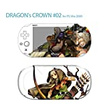Skin Decal Sticker For Ps Vita 2000 Series Pop Skin-Dragon's Crown #02+Screen Protector+Offer Wallpaper Image