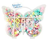BEAD KIT in BUTTERFLY BOX - Plenty of elastic to make BRACELETS or NECKLACES - Spinnaker Collection