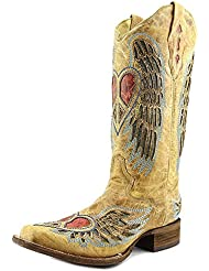 Corral Womens Wing And Heart Fashion Square Toe Boots