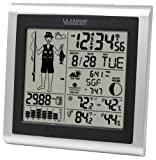 La Crosse Technology 308-1451 Atomic Forecast Station with Fisherman Icon, In/Out Temperature,...