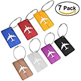 NUOLUX Travel Luggage Tags Suitcase Luggage Bag Tags, Travel ID Bag Tag Airlines Baggage Labels Pack of 7