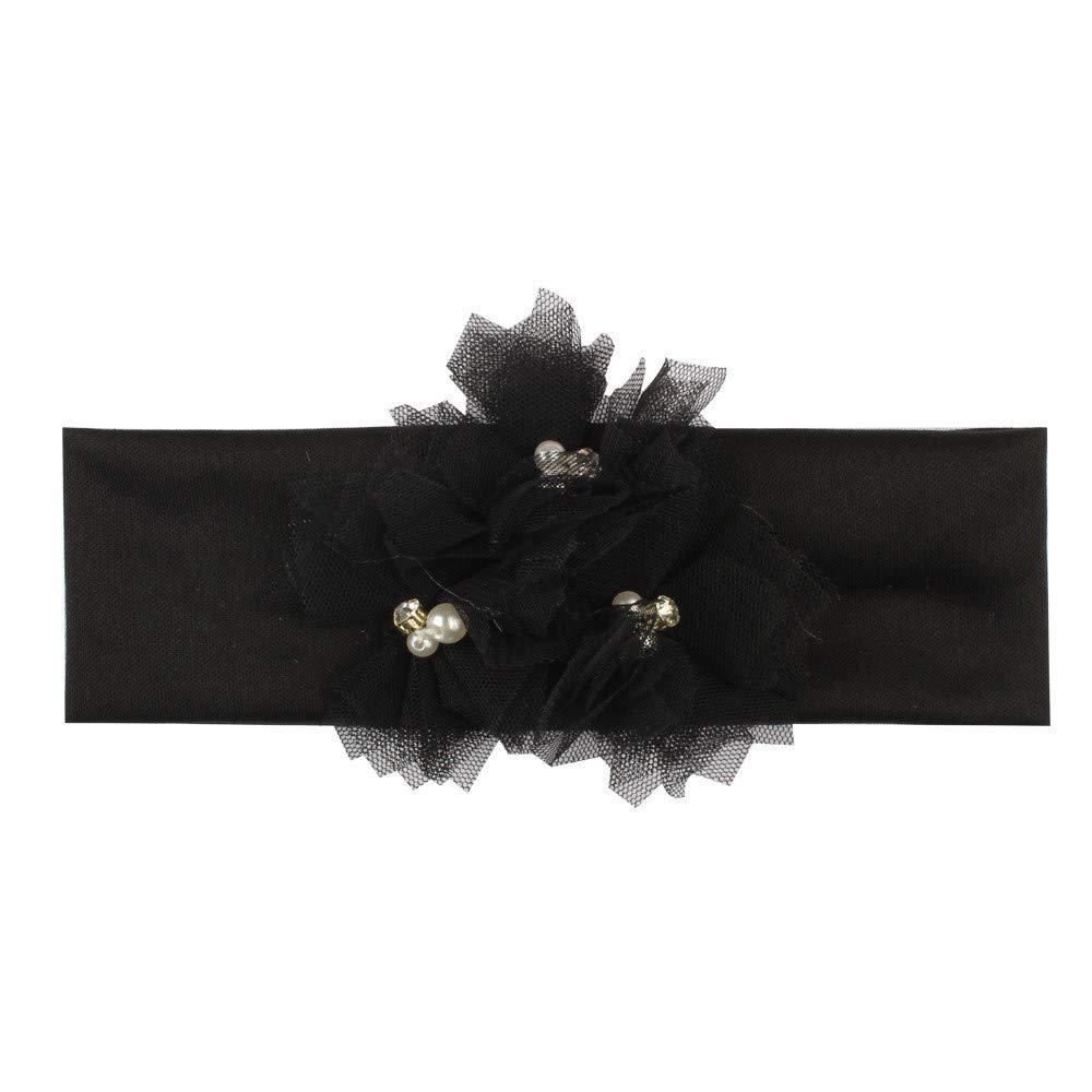 Huhu833 Baby Stirnb/änder Kinder M/ädchen Haarband Elastisches Blume Stirnband Baby Turban Knoten Kopf Wraps
