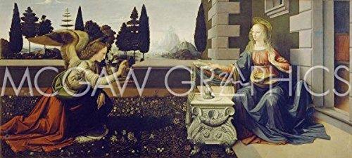 The Annunciation Leonardo Da Vinci - 6